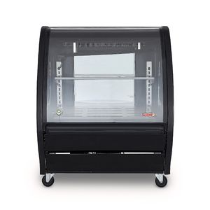 Vitrina delicatessen Torrey color negro de 1m de largo- TEM100N