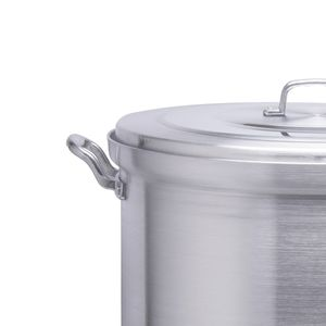 Olla vaporera de aluminio Alpro Silver Gourmet de 30cm con capacidad de 18 litros- 3630