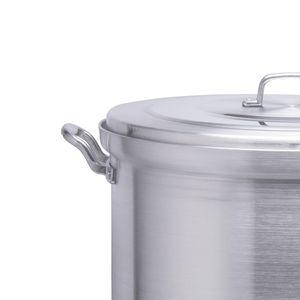 Olla vaporera de aluminio Alpro Silver Gourmet de 40cm con capacidad de 42 litros- 3640