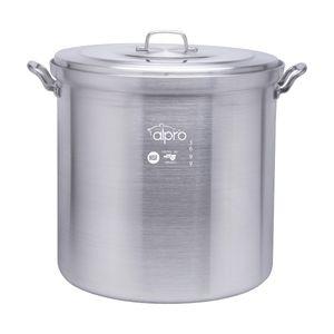 Olla vaporera de aluminio Alpro Silver Gourmet de 50cm con capacidad de 100 litros- 3699