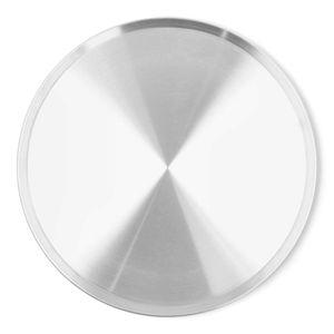 Charola Lisa para Pizza de Aluminio La Ideal de 40 cm color Gris