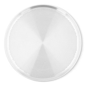 Charola Perforada para Pizza de Aluminio La Ideal de 35 cm color Gris