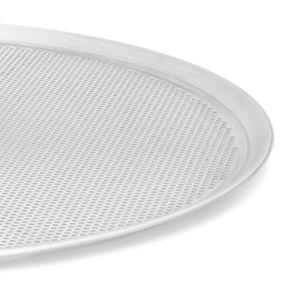 Charola Perforada para Pizza de Aluminio La Ideal de 40 cm color Gris
