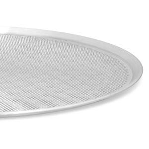 Charola Perforada para Pizza de Aluminio La Ideal de 45 cm color Gris