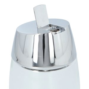 Azucarero de vidrio Traex® Dripcut™ Vollrath de 354.8ml y con tapa cromada- 930
