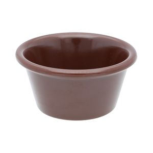 Docena de ramekins liso de melamina Thunder Group de 73.9 ml color chocolate- ML536C1