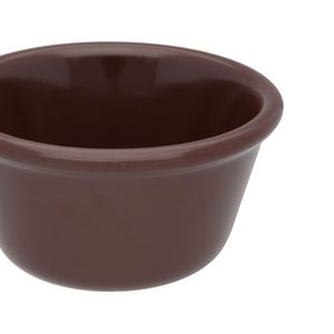 Docena de ramekins liso de melamina Thunder Group de 118.29 ml color chocolate- ML538C1