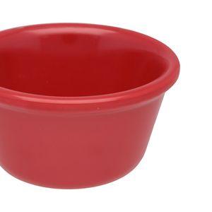 Docena de ramekins liso de melamina Thunder Group de 118.29 ml color rojo- ML538PR1