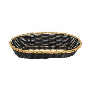 Canasta para pan oblonga Thunder Group de 21.5 cm color negro- PLBB850G