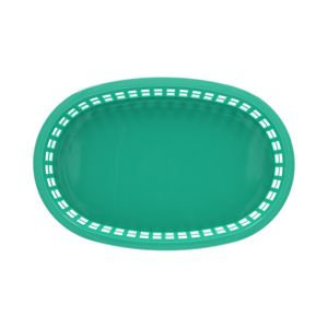 Canasta de comida rápida oblonga de Plástico Thunder Group 27.3 cm color Verde PLBK1034G
