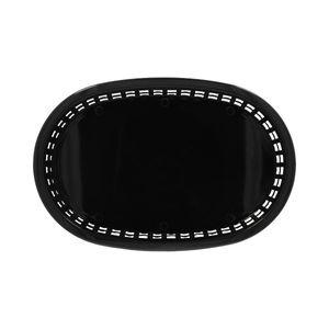 Canasta de comida rápida oblonga de Plástico Thunder Group 27.3 cm color Negro PLBK1034K