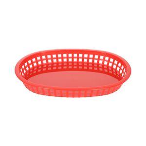 Canasta de comida rápida oblonga de Plástico Thunder Group 27.3 cm color Rojo PLBK1034R